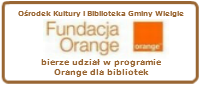 Baner z napisem Fundacja Orange