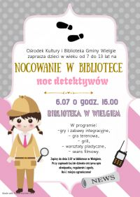 Kopia projektu Detective birthday party invitation -...